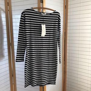 "Sz S Amour Vert ""Selma"" dress striped navy white"